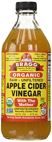 Bragg Organic Raw Apple Cider Vinegar, 16 Fl Oz (Pack of 1)