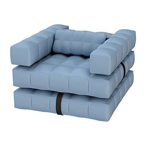 Pigro Felice Modul'Air 3-in-1 zwembad float/ligstoel opblaasbare stoel, PVC-kunststof, azuurblauw, 117x117x72 cm