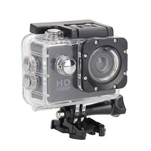 Homyl ブラックミニ防水フルHD1080Pヘルメットオートバイスポーツアイオンカメラカム
