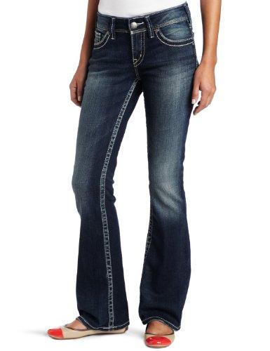 Silver Jeans Damen Suki Bootcut Jeans - Blau - 29W x 30L
