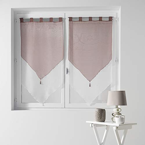 cortinas ventana triangular