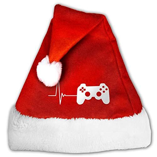 Art Popular - Gorro unisex de Pap Noel, cmodo, color rojo y blanco de felpa, para fiesta de Navidad