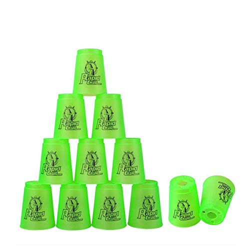 Quick Stacks Cups 12 PC of Sports Stacking Cups Speed Training GameGreen