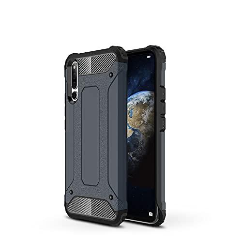 ZHIWEI Das tragbare Handy Tasche Schutzhülle für Huawei Honor Magic 2 Hülle, TPU + PC Stoßfänger Dual Layer Stoßdämpfe Hybridschutz Robustes Fall (Color : Navy)