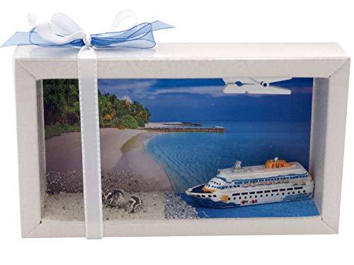 ZauberDeko Geldgeschenk Verpackung Kreuzfahrt Kreuzfahrtschiff Karibik Geldverpackung Urlaub Reise...