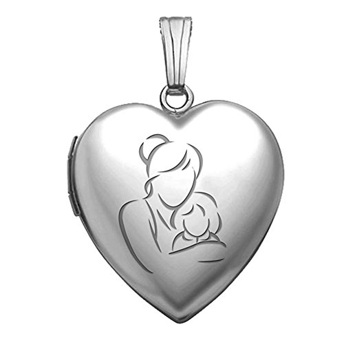 Sterling Silver Mom & Daughter Heart Locket
