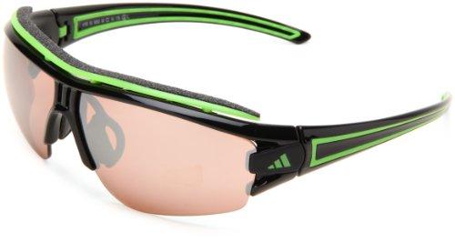 adidas Sonnenbrille Evil Eye HALFRIM PRO Shiny Black/Green, Größe:S