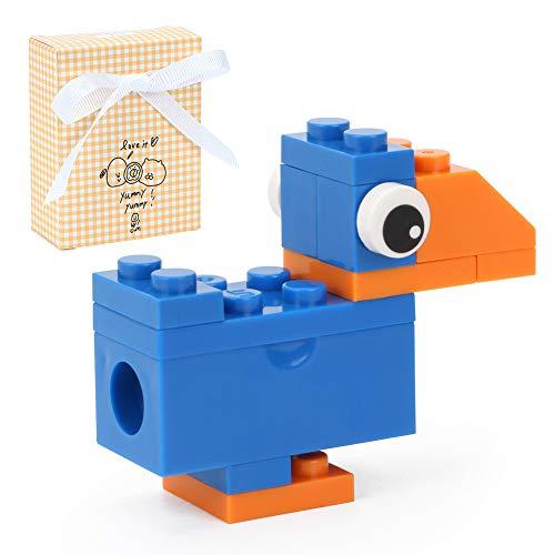 Premium Upgrade DIY Crow Puzzle Pencil Sharpener for Kids/Ritchoi Perfect Intersection of Manual Pencil Sharpeners + Brick Blocks/Sensory Blocks