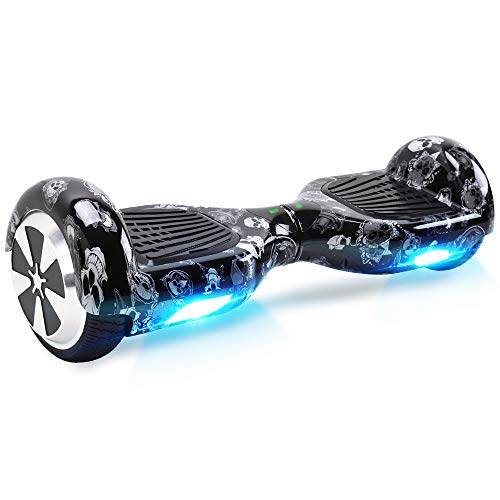 "Windgoo Hoverboard, 6.5\"" Self Balancing Scooter, Smart Self Balance Scooter mit Starker Dual Motor, Elektro Skateboard für Kinder (Skull)"