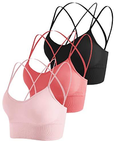 UMIPUBO Sujetador de Camisola para Mujer Sujetador de Tubo de Cuello V Banda Bralette sin Costuras Sujetador de Dormir Sujetador Deportivo Ropa Interior con Tirantes Elásticos