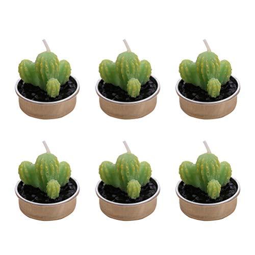 BESTONZON 6 stücke Simulation Pflanze Kerze/Kerze Se/Dekorative Kerze, Mini Kaktus Form, Geeignet für Wohnkultur