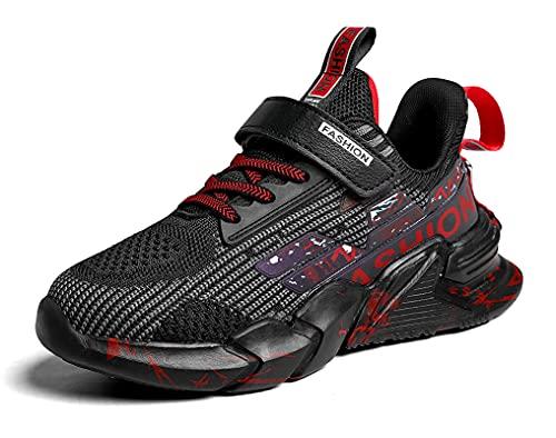 SMajong Zapatillas Deportivas para Niños Niñas Ligeras Calzado Zapatos de Correr Transpirable Antideslizante Zapatos de Running Deportes de Exterior Interior 29 EU