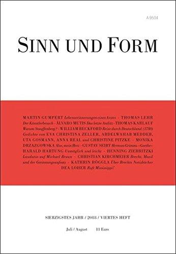 Sinn und Form 4/2018