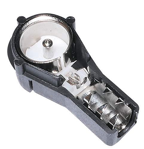 Aerzetix: Fiche mâle - coudée - ISO - à sertir - antenne - autoradio - câble - RG58
