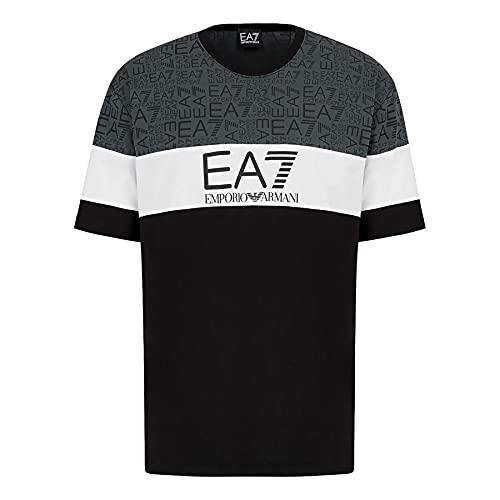 EA7 Emporio Armani 7 - T-Shirt Uomo Nero Logo