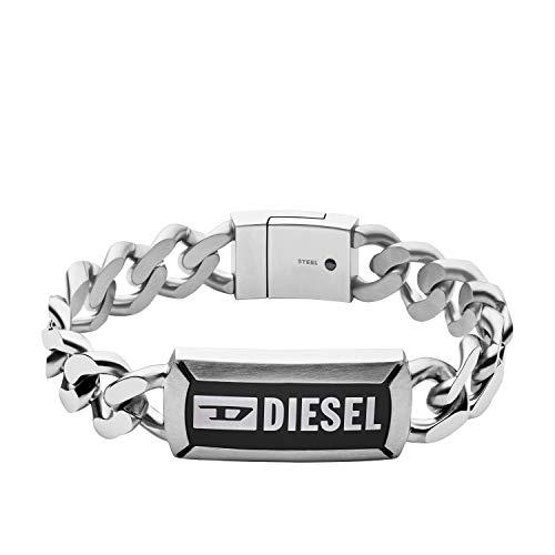 Diesel Herren Armband Namensplakette Edelstahl, DX1242040, 22 cm