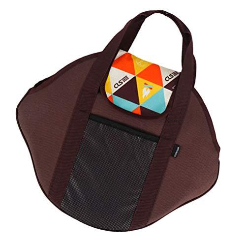 Cabilock Outdoor-Backofen Einkaufstasche Tragbare Nylon Baumwolle Camping Kochgeschirrtasche für Outdoor-Camping Wandern Rucksack Grillen Outdoor-Versorgung 43. 5X37cm (Bunt)