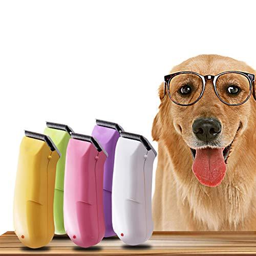 Getrichar Pet Electric Clipper Dog Shaver USB Recargable Modelo de Aseo Adecuado para Perros pequeños, medianos y Grandes y Gatos Rosa (Color : #2)