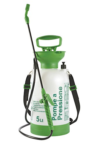 VERDELOOK Pompa a Pressione Lenny, capacità 5 L, per Giardinaggio con irroratore per Le Piante