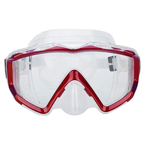 Teror Máscara de Buceo, Adultos Gafas de natación de Silicona Buceo con esnórquel Máscara de Buceo Gafas de natación Equipo de Buceo(Rojo)