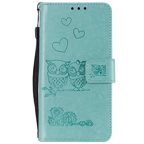 Tosim [iPhone XS Max] Hülle Leder, Klapphülle mit Kartenfach Brieftasche Lederhülle Stossfest Handy Hülle Klappbar für Apple iPhone XS Max - TOHHA100336 Green