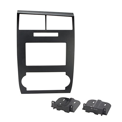 SCOSCHE CR1295DDB Double DIN Car Stereo Dash Installation Kit Compatible with 2005 to 2007 Dodge Charger or Magnum Vehicles