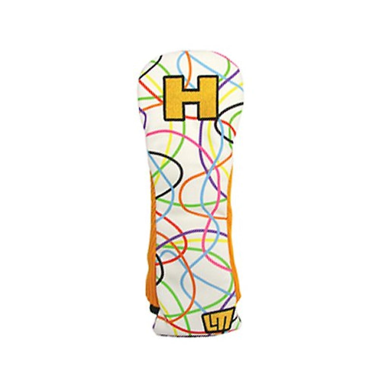 暗記する記念碑的な針ホクシン交易 HTC ラウドマウス レトロスタイル スクリブルズ ホワイト ヘッドカバー ユーティリティ用  WHC483