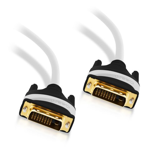 GearIT DVI to DVI Dual Link Adapter Cable - DVI Male to DVI Male Support High Resolution LCD Monitor