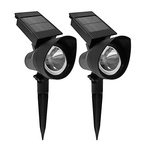 DO-MF Lámpara de Enchufe de Tierra Solar, focos LED Ajustables a Prueba de Agua, luz de Paisaje inalámbrica automática para Patio Entrada de jardín Camino de césped Pasillo de Piscina