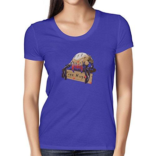 Texlab Damen T-shirt Free Hugs, Marine, L, VEND-237135
