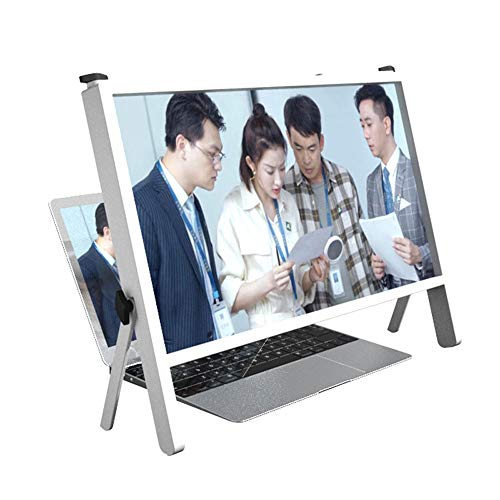 Large Screen Amplifier,21In Foldable Screen Magnifier Ultra-Clear Anti-Blue Light Enlarger Projector,Adjustable Stand Holder Amplifier for Laptop Smartphone Watching Movies Videos