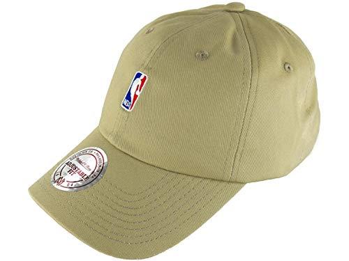 Mitchell & Ness NBA Visière incurvée pour papa - Logo NBA - Sable