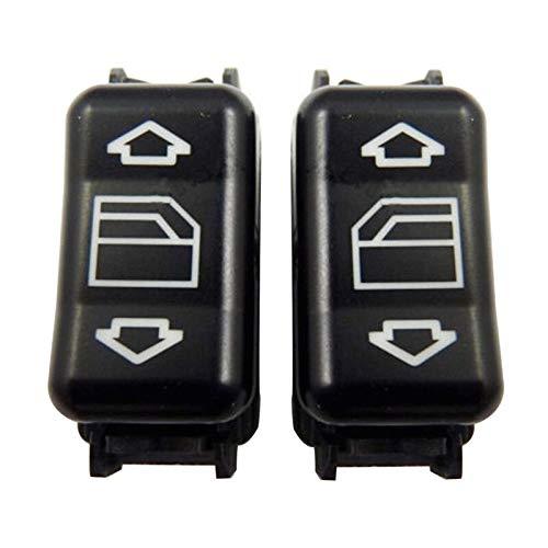 BotóN De Interruptor De Coche Interruptor Izquierdo y ampRight Maestro Ventana de energía eléctrica de Control/Ajuste for Mercedes-Benz E W124 W126 W201 W463 (Color : Black)