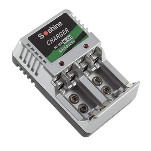 Monllack Ladegerät AA AAA 9 V NI-MH-NI-Cd-Akkus Ladegeräte für den Wandschalter für Reisen EU-Stecker
