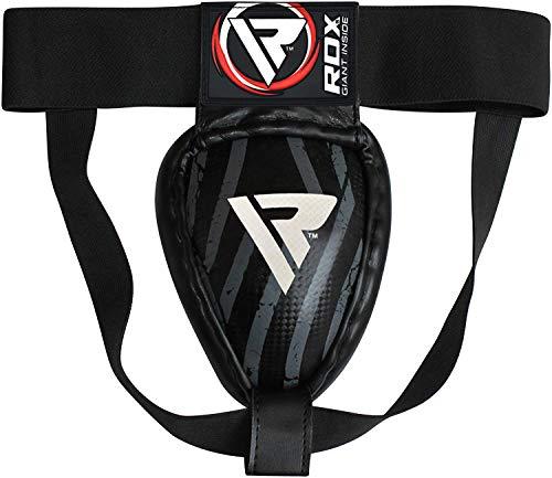 RDX MMA Abdo Guard Groin Cup Boxing Adult Abdominal Protector Jock Strap Muay thai,Black,Medium