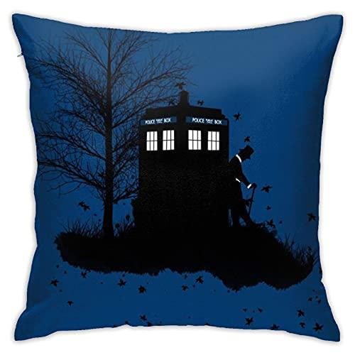 RVEVHGAHHA TARDIS - Funda de almohada con cremallera invisible, 45,7 x 45,7 cm