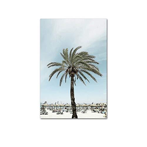 Ocean Sea Beach Bridge Leinwand Poster Nordische Natur Landschaft Kunst Malerei Skandinavisch Lebendiges Wohnzimmer Dekorative Malerei (Kein Rahmen)