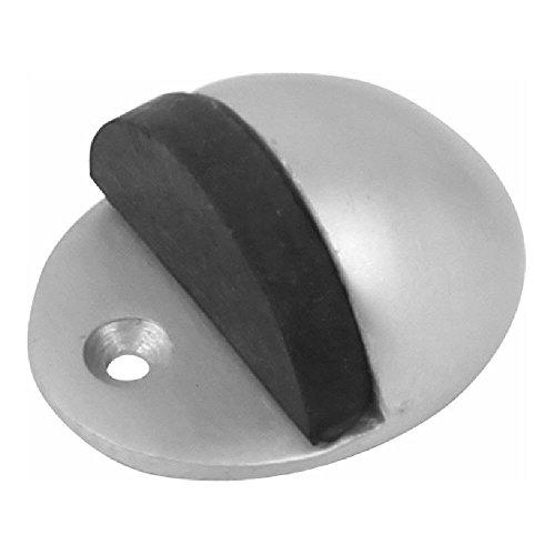 Dzinatm à capuche ovale Arrêt de porte 42 mm (1. 5/20,3 cm) en aluminium anodisé satiné Lot de 1