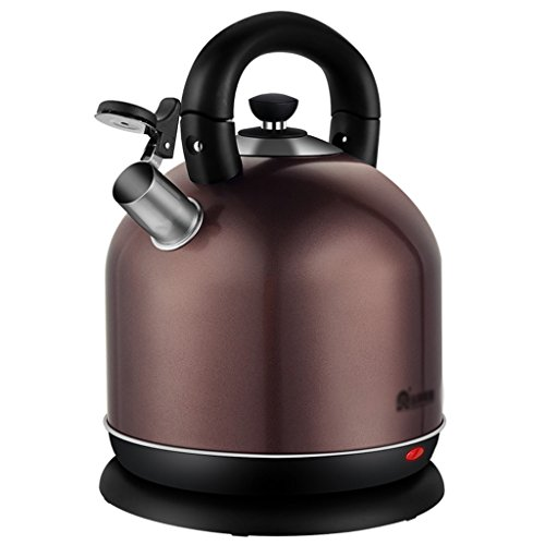 Bouilloire électrique automatique automatique de ménage 5 litres de théière électrique à grande capacité en acier inoxydable (Couleur : Marron)