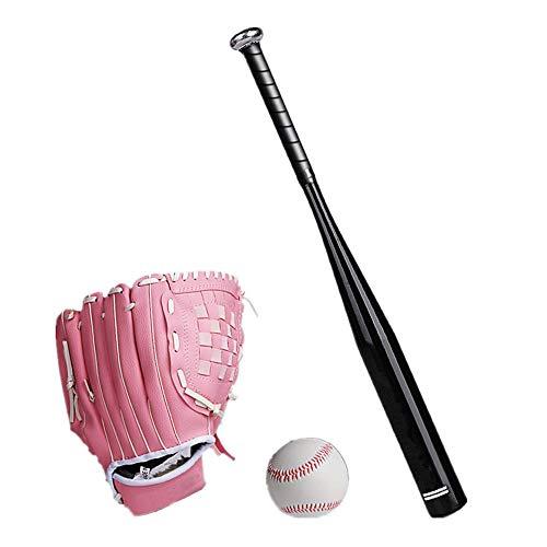 CXXX HT Baseball-Anzüge Baseball Baseball-Handschuh Baseballschläger Sport im Freien Üben Ausbildung Liga Softball Eltern-Kind-Aktivitäten Kinder, Pink Gloves