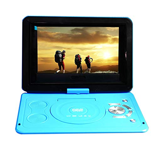 JXSD 9.8 Inch Portable DVD Player with HDMI Input/Output Built-In Rechargeable Battery, Support for Full HD 1080P Video, Simultaneous Screen,270 Degree Rotation, USB/SD Playback