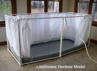 LiteShower Portable Shower Recliner Model
