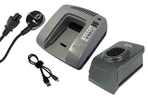 PowerSmart® 7,2V-18V Ladegerät für Ryobi CCS-1801LM, CCS1801LM, CCW-180L, CDA-18021B, CDA1802, CDA18021B, CDA18022B, CDA1802M, CDC-181M, CDD182L, CDI-1801, CDI-1802, CDI-1802M, CDI-1803, CDI-1803M, CDI1803M, CDL1441P, CDL1442D, CDL1442P (Grau)