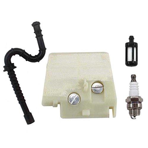 AISEN Luftfilter + Zündkerzen + Benzin Schlauch Filter für Stihl Kettensäge MS240 MS260 024 026 Neuere Modelle