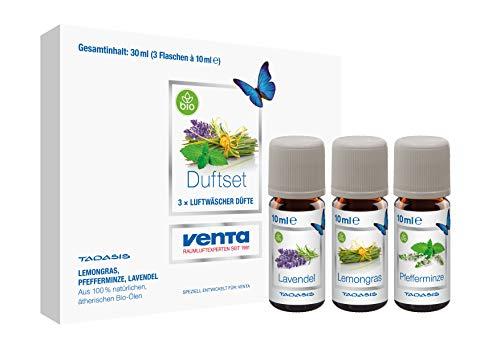 Venta Bio-Duftset Exklusiv N°2 (Lavendel, Lemongras und Pfefferminze), 100 % natürliche ätherische Bio-Öle, 3 x 10 ml