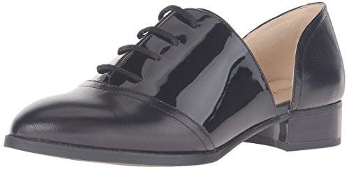 Nine West Women's Nevie Leather Oxford, Black, 5.5 M US