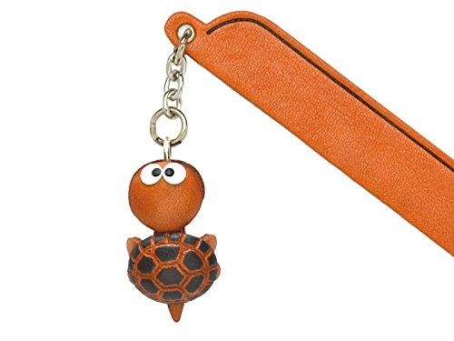 Vanca Signet en cuir avec pendentif tortue fait à la main au Japon