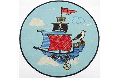 Chad Valley Pirates Tapis-Bleu.