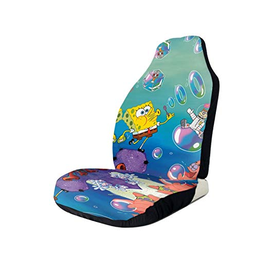 Sponge-Bob Squarepants Printed Car Seat Covers Front Seat Protector Cover for Most Car,SUV Sedan & Truck
