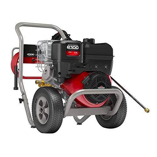 Briggs & Stratton Gas Pressure Washer 4000 PSI 4.0 GPM with Triplex Pump, 5 Nozzles, 50' High-Pressure Hose & Detergent Injection